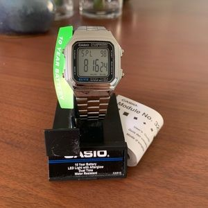 Casio Retro Watch - Silver